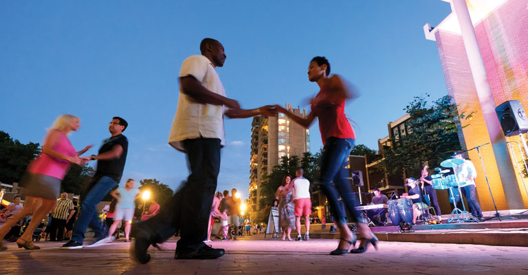 Lake Anne Plaza Dance Night by Charlotte Geary