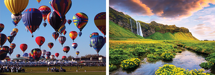 ballon fiesta and iceland