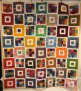 (large)Hannah Hamilton – Untitled, Art Quilt, cotton fabric, 50.75 x 57.5