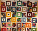 (small2)Hannah Hamilton – Untitled, Art Quilt, cotton fabric, 50.75 x 57.5