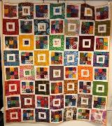 Hannah Hamilton – Untitled, Art Quilt, cotton fabric, 50.75 x 57.5